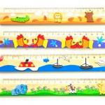 Damit misst jedes Kind gerne! Buntes Kinderlineal in 3D!